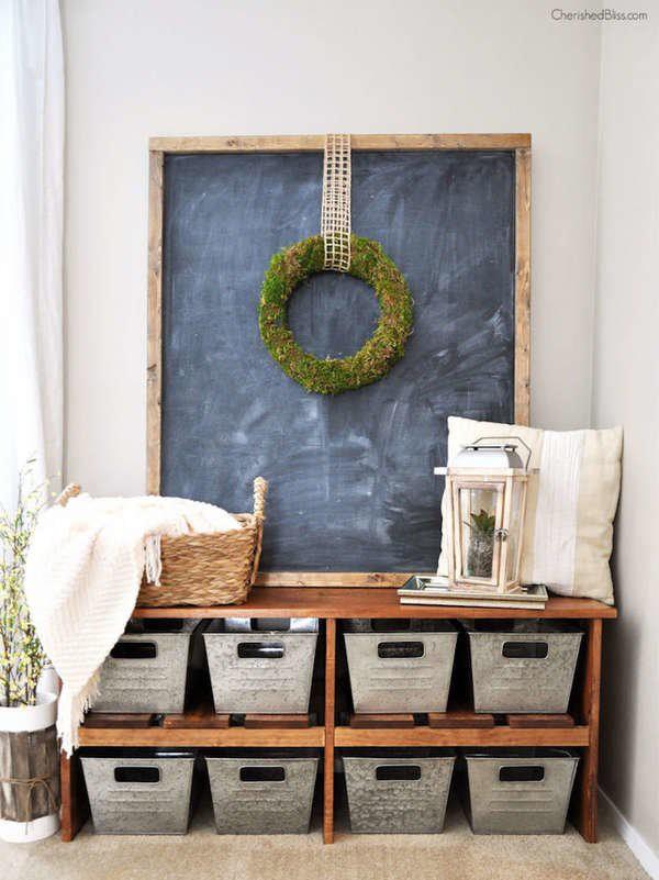 21. DIY Farmhouse Style Kitchen Bench
