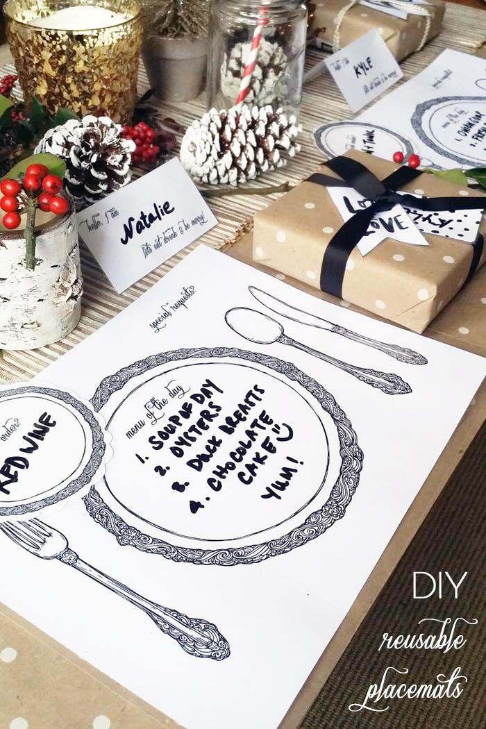 21. DIY Reusable Table Placemats
