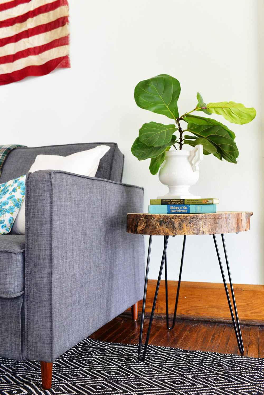 21. DIY Wood Slab Table