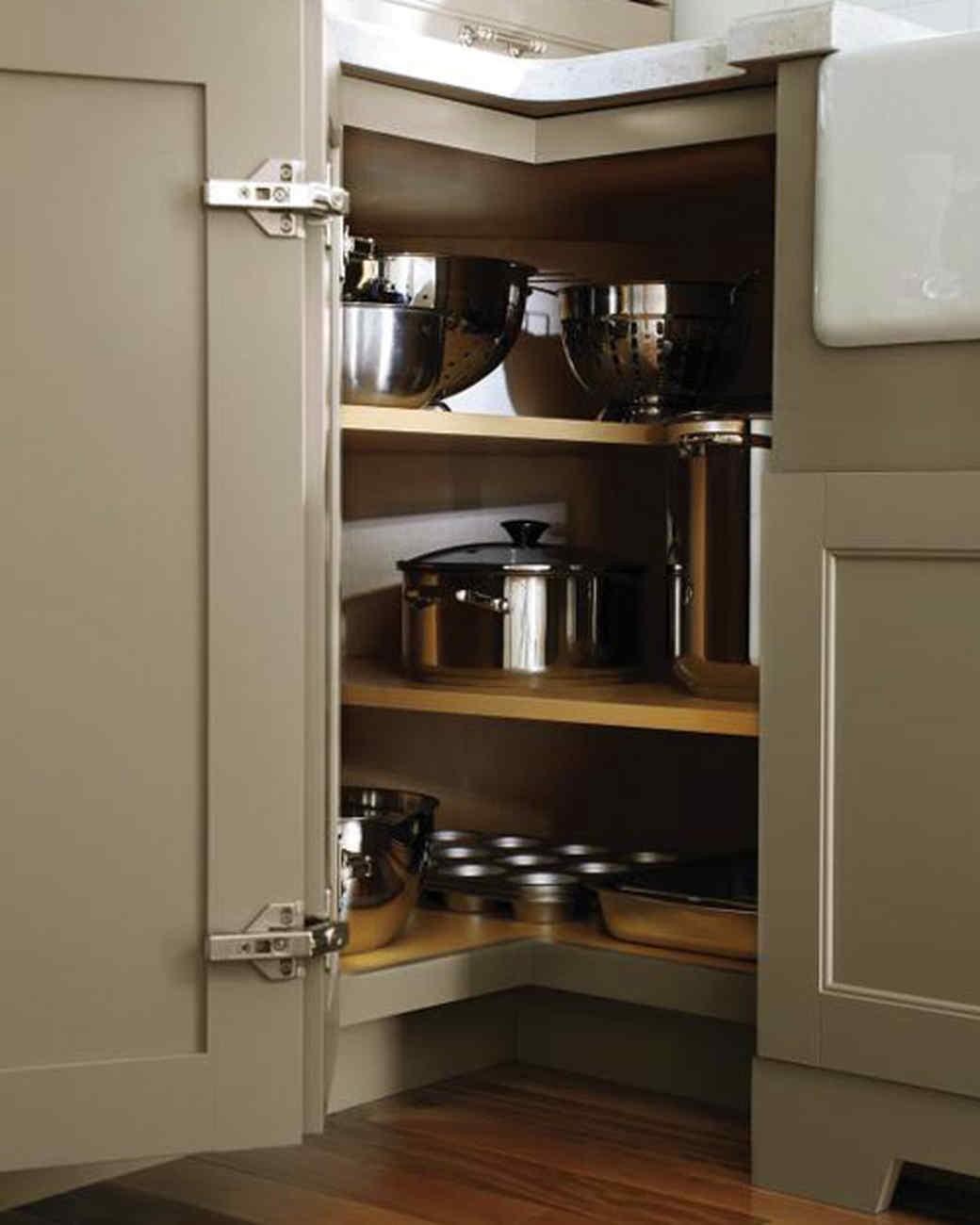 21. Kitchen Corner Storage Cabinet Shelf