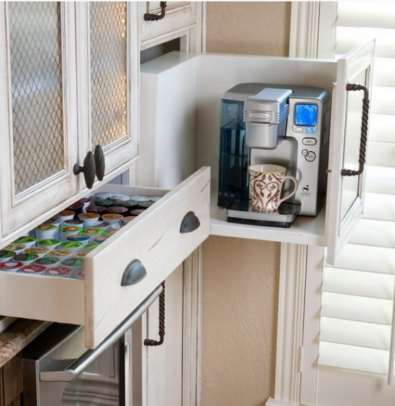 21. Pull Out Coffee Maker Storage Cabinet