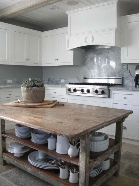 21. Raw Wood Kitchen Table Without Chairs
