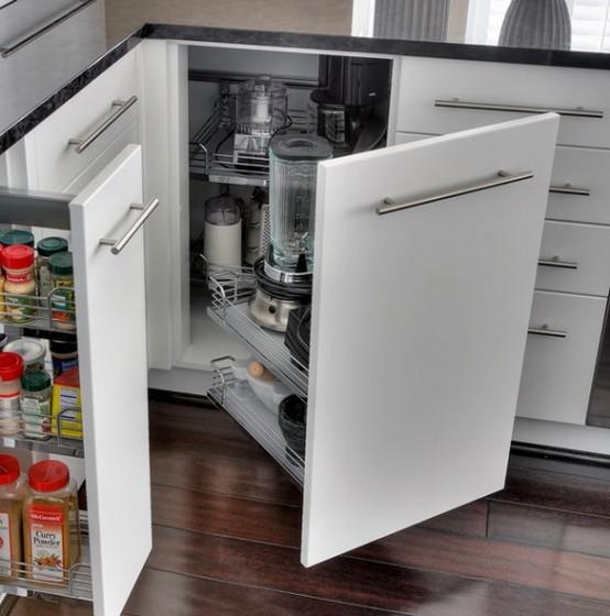 22. Corner Storage For Kitchen Appliances