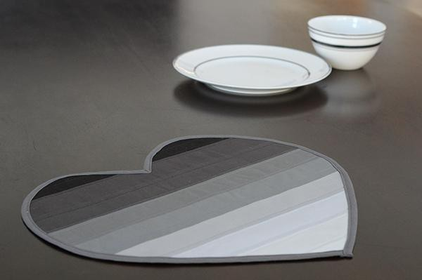 22. DIY Heart-Shaped Placemats