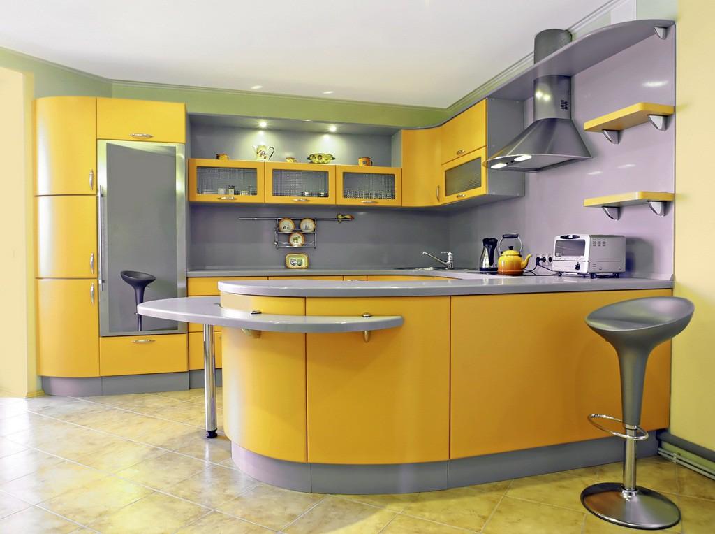 22. Modern Style Kitchen in Yellow