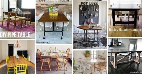 23 DIY Kitchen Table