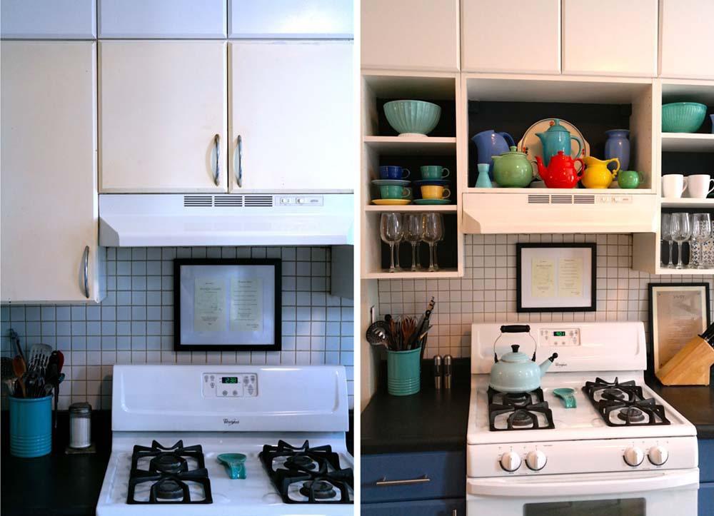 23. DIY Rental Kitchen Cabinet Makeover