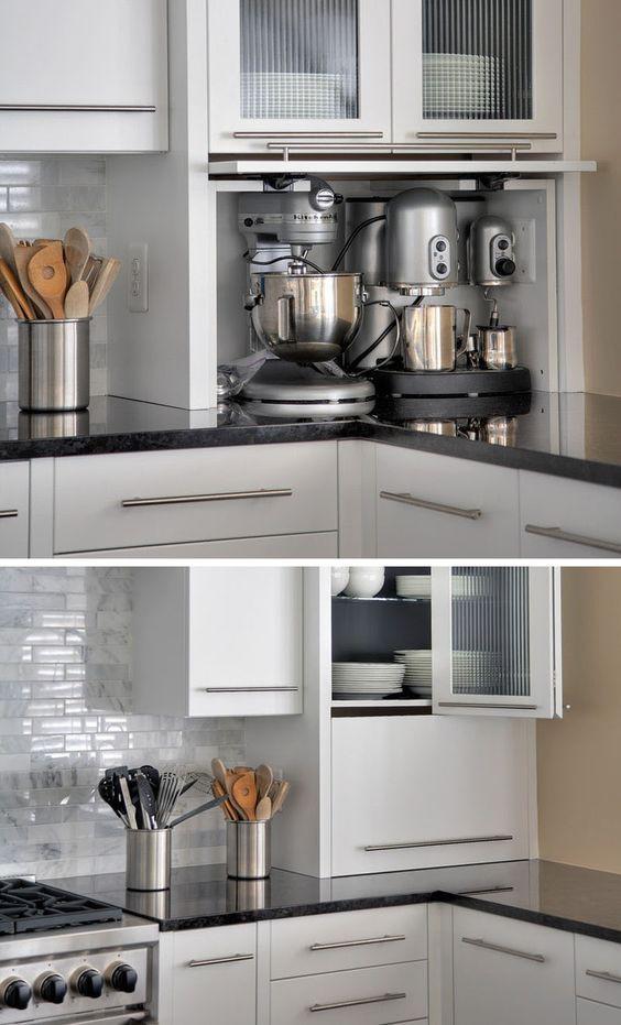 23. Kitchen Appliance Garage