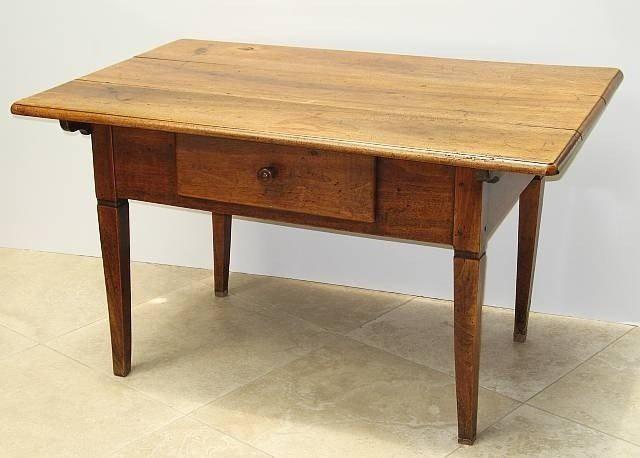 23. Single Large Drawer Kitchen Table