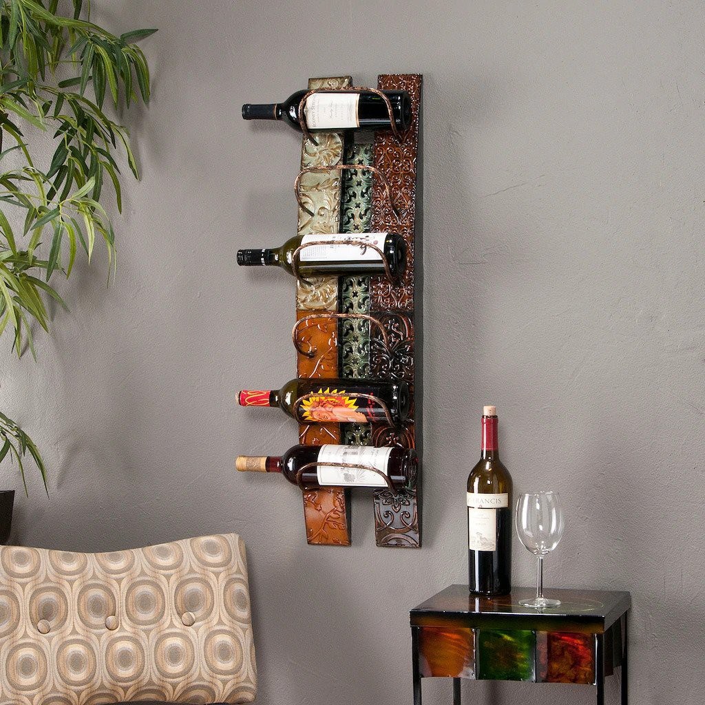 23. Wall Mount Wine Storage