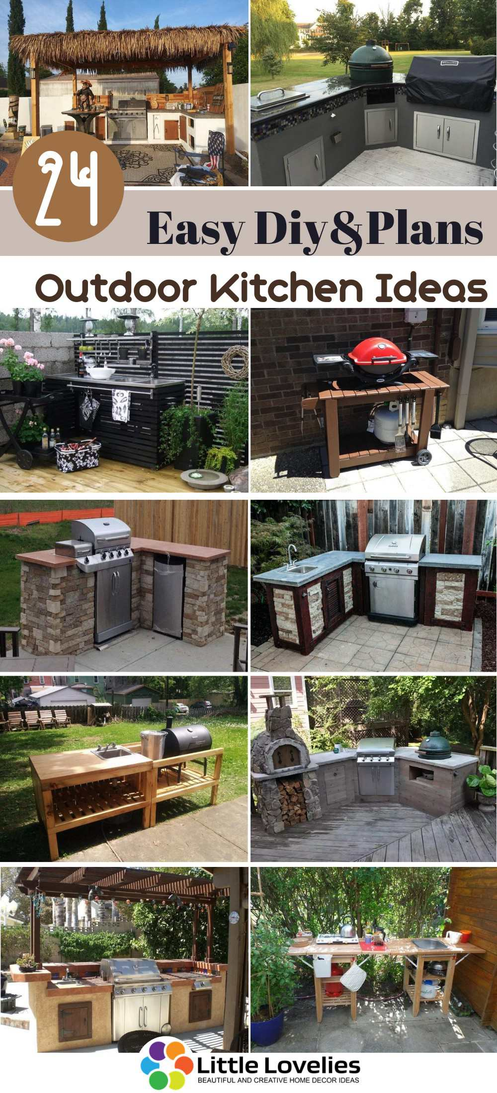 24 DIY Outdoor Kitchen Ideas and Plans