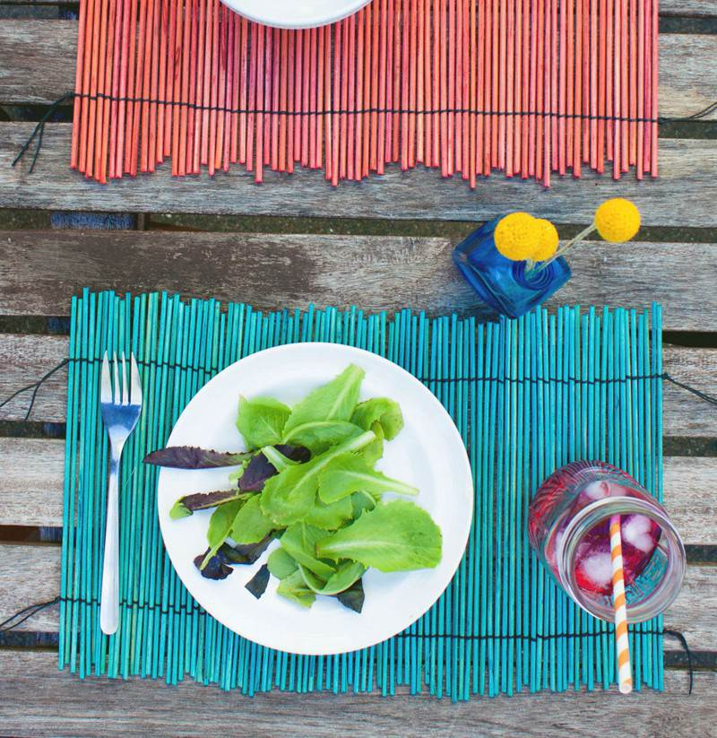 24. DIY Dyed Wood Placemats