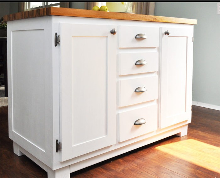 24. DIY Kitchen Island With Lots Of Compartments