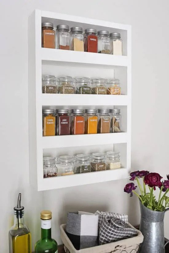 24. DIY Modern Kitchen Spice Rack