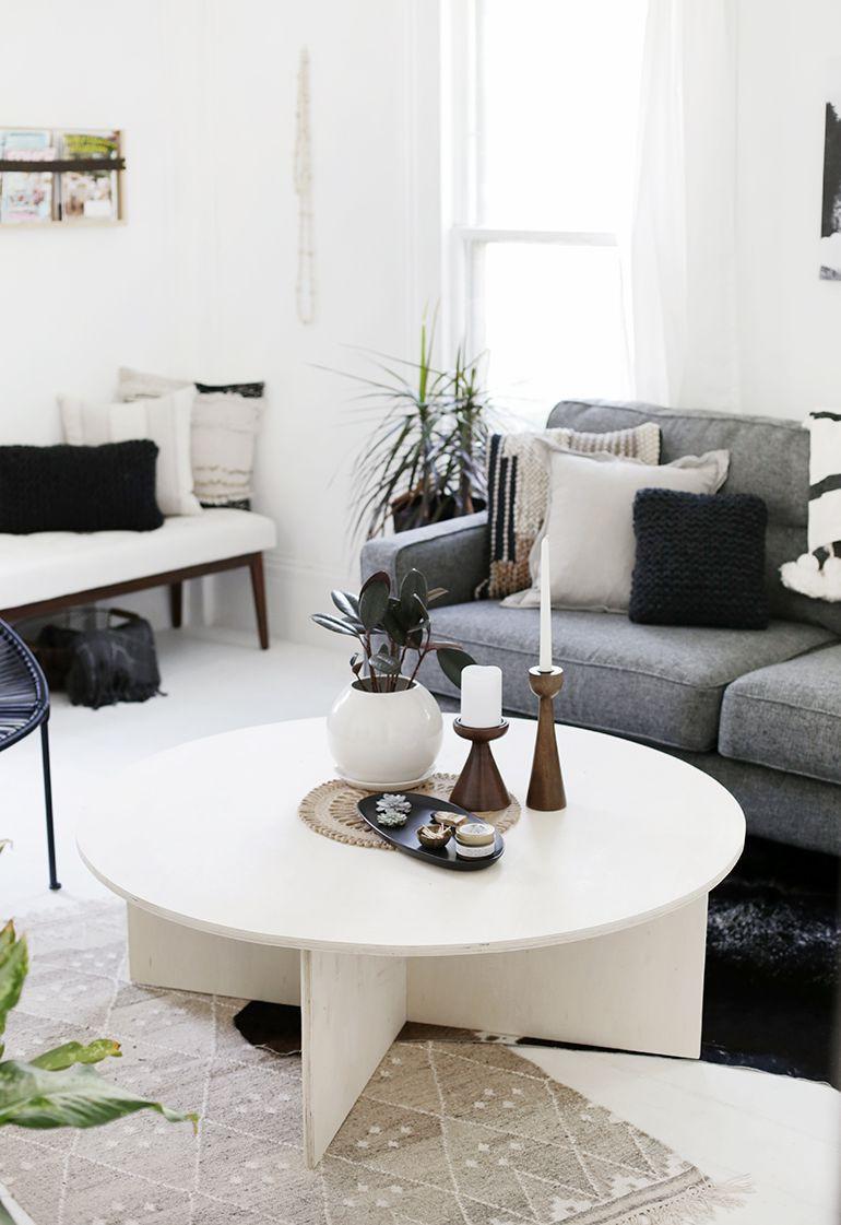 24. DIY Round Coffee Table
