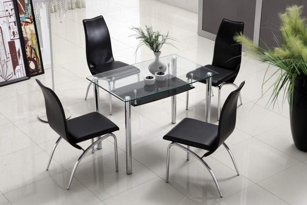 24. Glass Kitchen Table With Storage