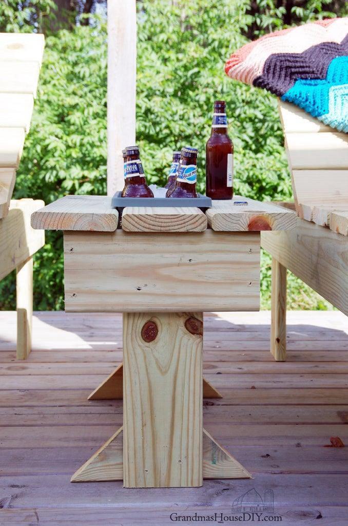 24. Outdoor End Table DIY