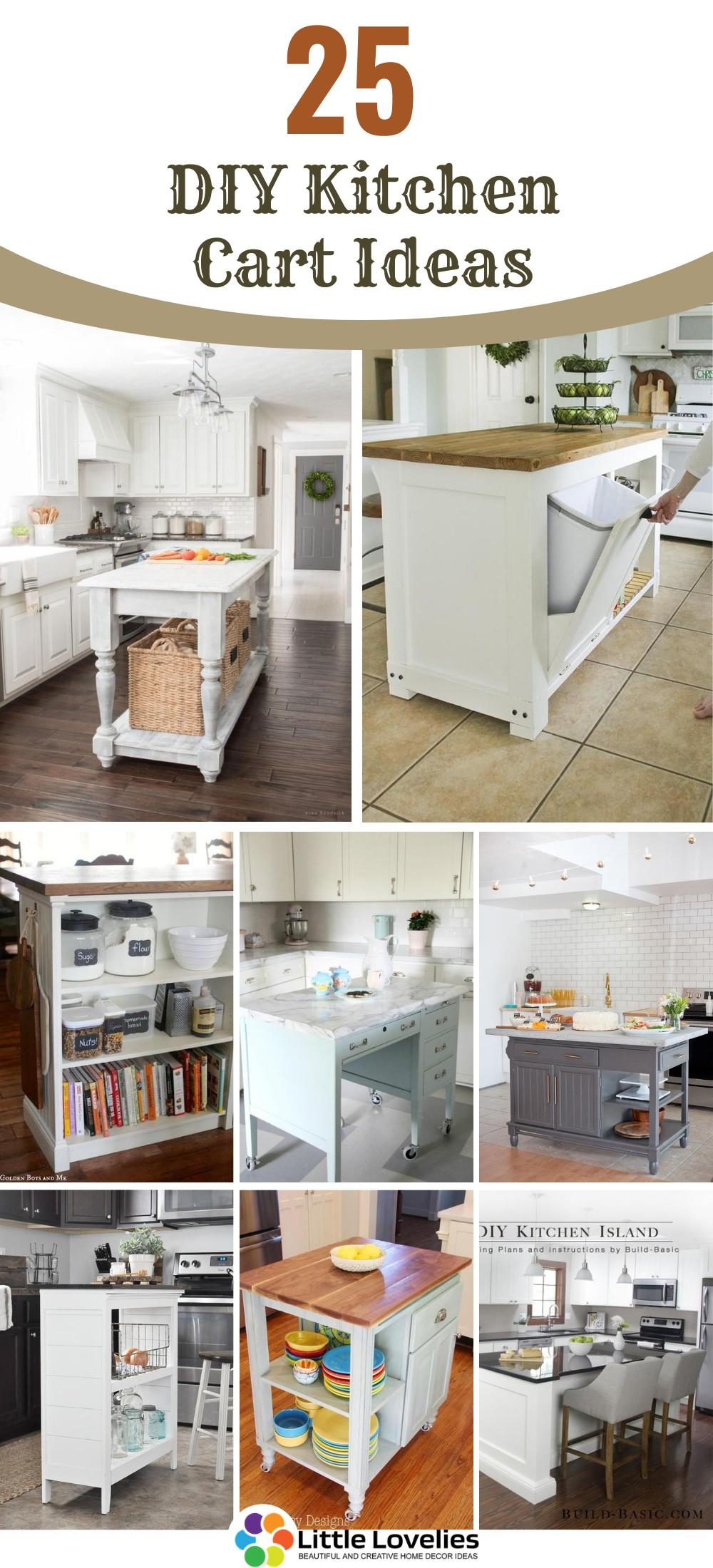 25 DIY Kitchen Cart Ideas