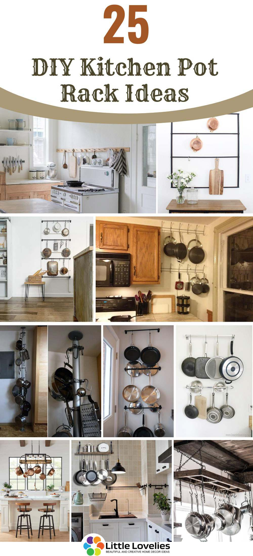 Picture of: 25 Diy Pot Rack Ideas Easy Ways To Organize Pots And Pans