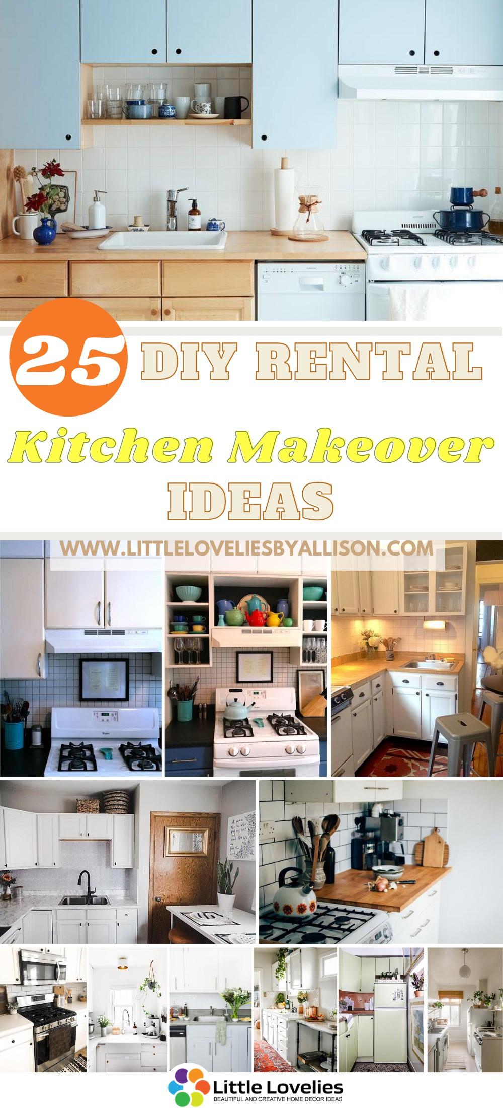 25 DIY Rental Kitchen Makeover Ideas