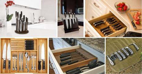 25 Kitchen Knife Storage Ideas