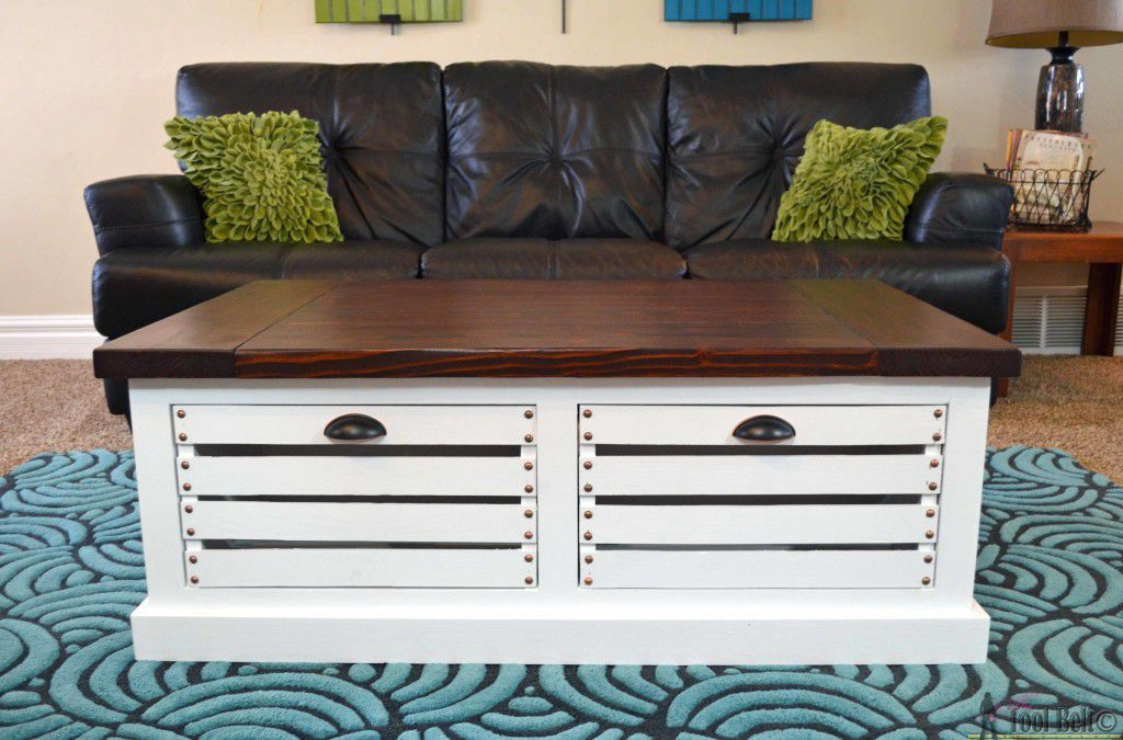 25. DIY Storage Coffee Table