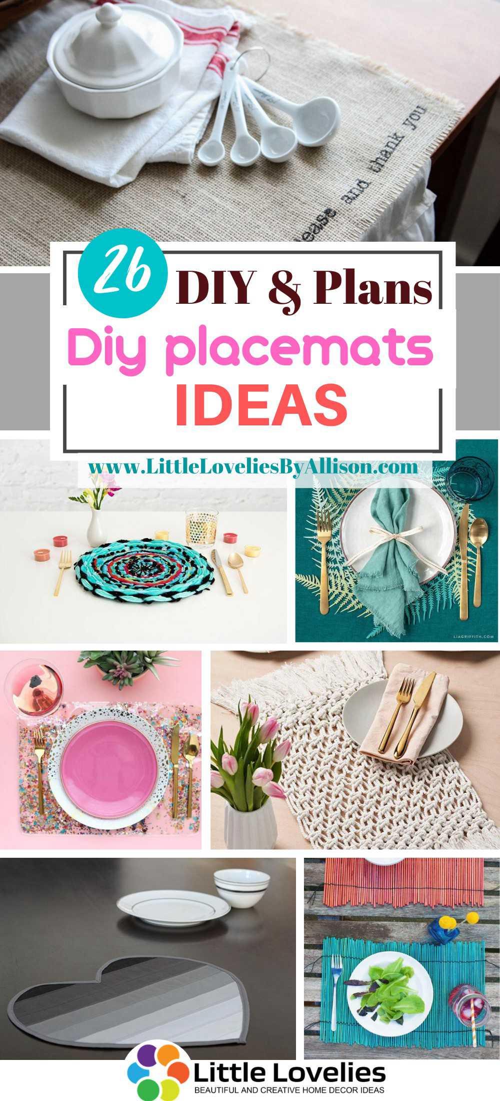 26 DIY Placemats Ideas