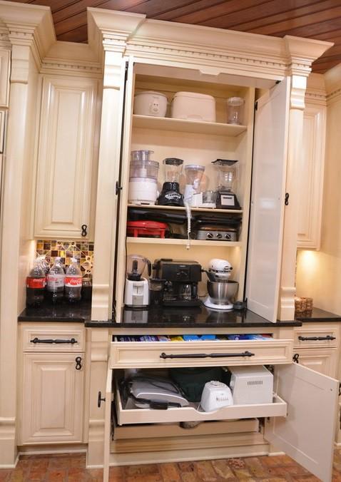 26. Modern House Style Kitchen Appliance Storage Idea