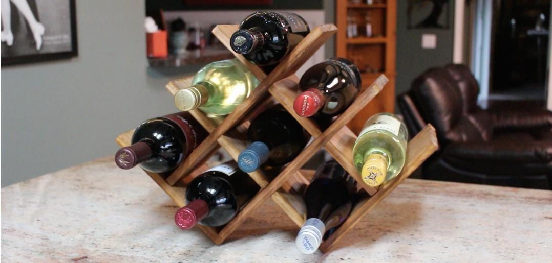 26. Wine Rack For Countertop