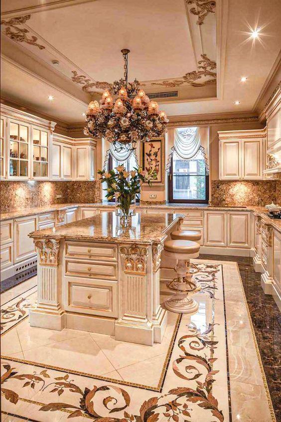 26.Large Mediterranean Kitchen Design Inspiration
