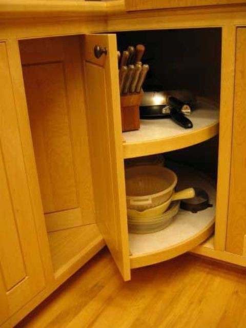 29. Rolling Corner Cabinet