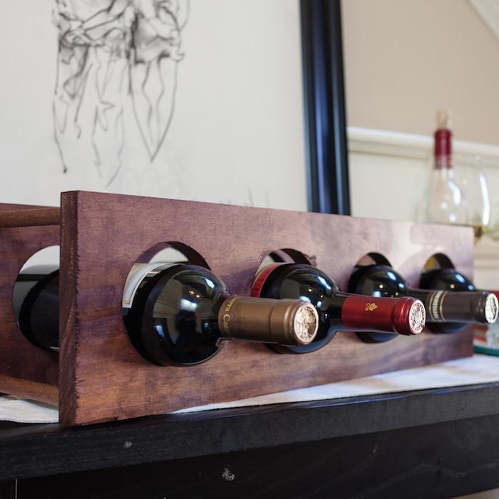3. Circular Wine Rack DIY