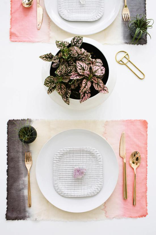 3. DIY Dyed Placemats