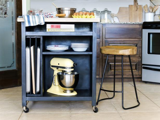 3. DIY Kitchen Island On Wheels