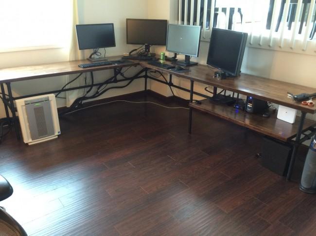 3. DIY L-Shaped Corner Desk