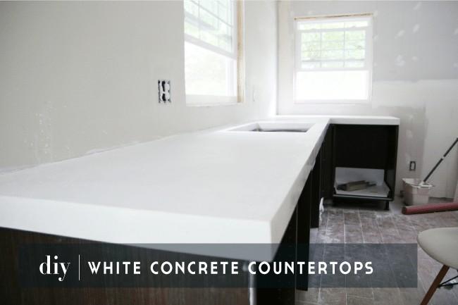 3. DIY White Concrete Countertop