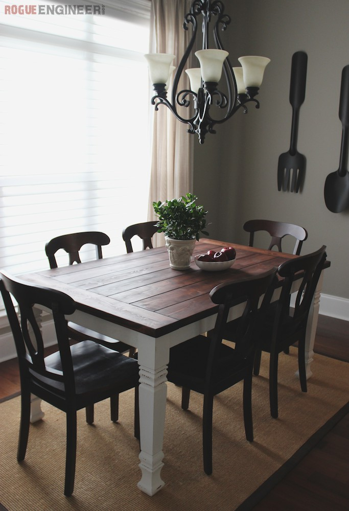 3. Farmhouse Dining Table