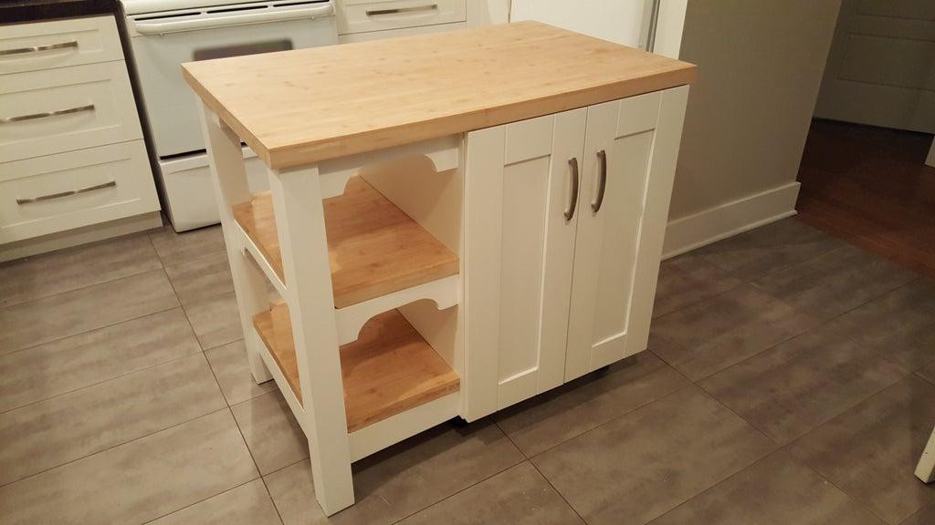 3. Kitchen Island With Shelf DIY