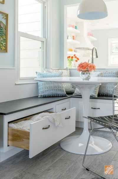 30. Ideal Kitchen Storage Bench For Large Kitchens