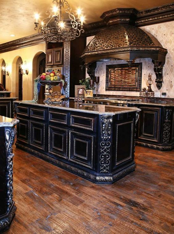 31.Gothic Mediterranean Kitchen