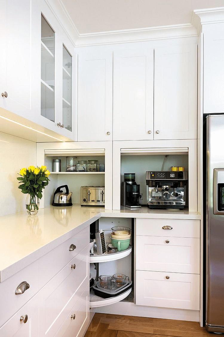 4. Corner Storage Idea For Small Kitchens