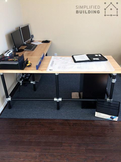 4. DIY Butcher Block Corner Desk