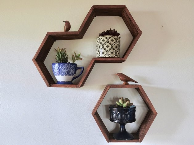 4. DIY Hexagon Shelves