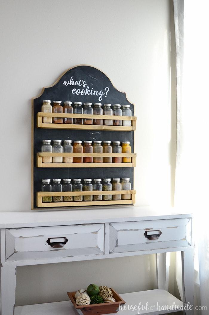 4. DIY Wooden Spice Rack