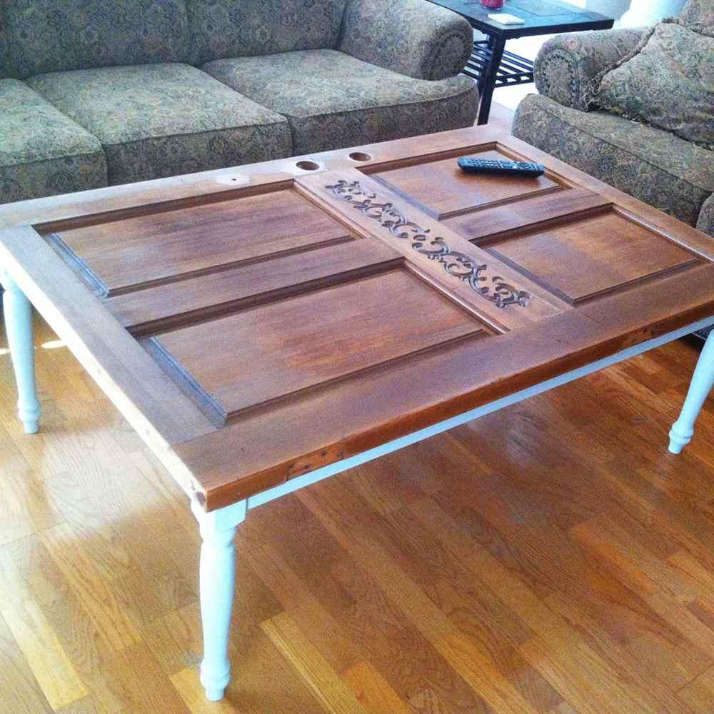 4. Old Door Coffee Table