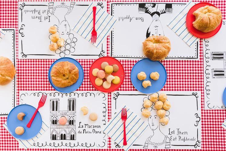 4. Printable Parisian Placemats