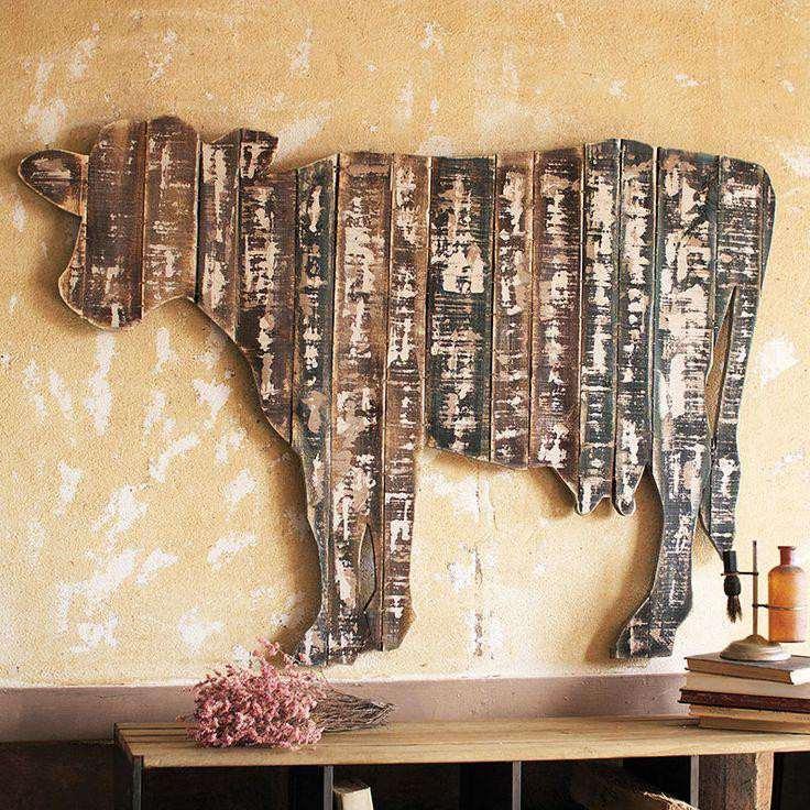 4. Rustic Kitchen Wall Decor