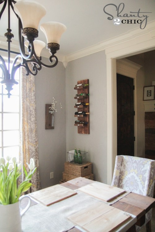 4. Wall-mounted Wine Rack