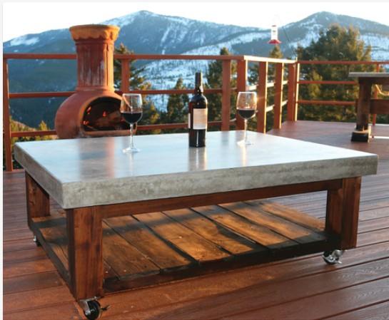 5. Concrete Coffee Table