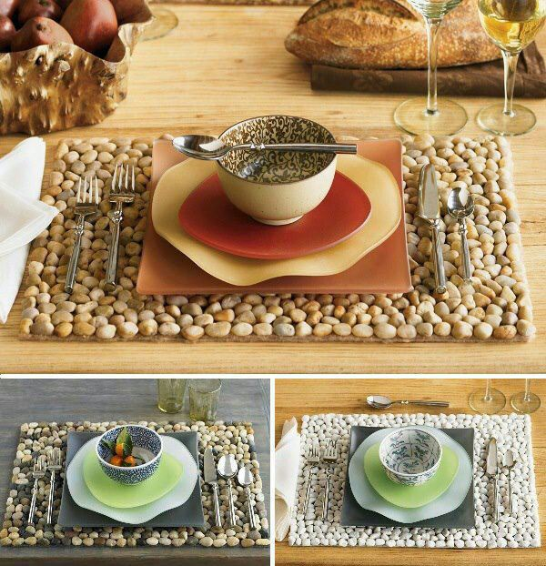 5. DIY Pebble Placemats